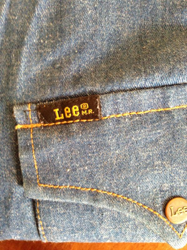 Lee shirt copper buttons size L made in Hong Kong 4.JPG