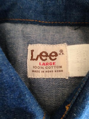 Lee shirt copper buttons size L made in Hong Kong 3.JPG