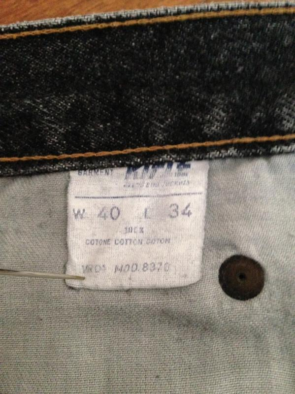 Rifle jeans 40x34 blackwashed made in Italy 12.JPG
