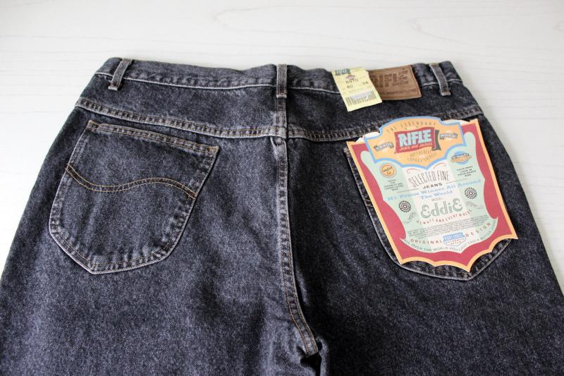 Rifle jeans 40x34 blackwashed made in Italy 4.jpg